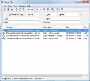 Merge MP3 logiciel pour joindre fichier audio