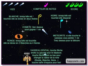 Musique Notes in Space HN