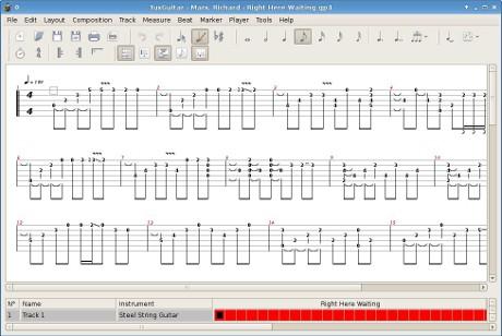 Logiciel pour creer des tablatures et partitions de guitare - Application couper musique ...